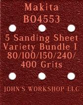 Makita BO4553 - 80/100/150/240/400 Grits - 5 Sandpaper Variety Bundle I - $7.53