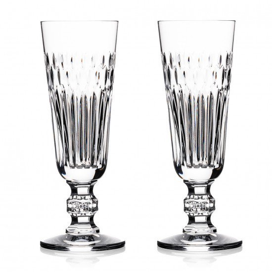 "Primary image for Waterford ETCHED ""Dona""l Flute 5oz capac Pair CRYSTAL CLEAR MADE IN SLOVENIA NEW"