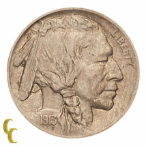 1913 Type 1 Buffalo Five Cent Nickel 5C (About Uncirculated, AU Condition) - $39.59