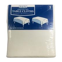 "Daily Chef Rectangular 54"" x 120"" Tablecloth, White (2 pk.) BRAND NEW - £22.43 GBP"