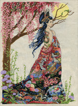 """Design Works Counted Cross Stitch Kit 16""""X22""""-Queen of Silk (14 Count) - $34.82"""