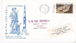 Usaf Minuteman Ii Research Booster Launched Vandenberg Afb, Ca October 1, 1969 - $1.78