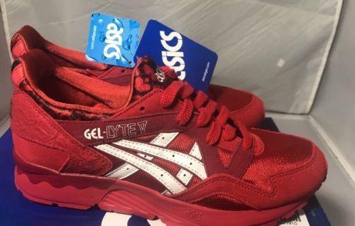 Asics gel lyte v Romance Pack (H504K-2301) Red/black/White Size 7
