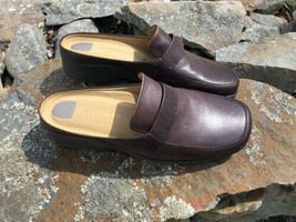 Easy Spirit Women's Easy Flex Mules Clogs Size 7 Leather Slip On Comfort Work LN - $36.08 CAD