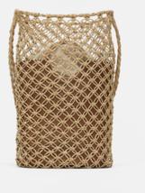 ZARA. GENUINE NET BUCKET BAG BNWT LEATHER - $48.74
