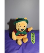 """Walt Disney World Winnie The Pooh With Green Hat And Tie 8"""" - $12.86"""
