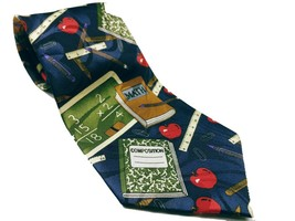 Fratello Men's School Days Teacher Math Ruler Composition Necktie Novelty - $12.00