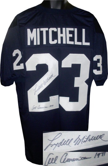 Primary image for Lydell Mitchell signed Navy TB Custom Stitched Football Jersey All American 1971