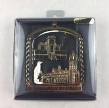 Paua Mania Dunedin New Zealand 24 K Gold Flashed Brass Metal Souvenir Ornament  - $15.00