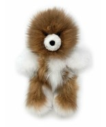 Baby Alpaca Fur Teddy Bear - Hand Made 10 Inch Multi - Honey/White - $66.82