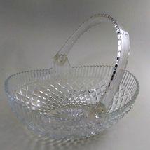 Hoya Lead Crystal Glass Basket w/ Plastic Handle 1960's Vintage image 3