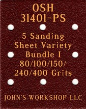 OSH 31401-PS - 80/100/150/240/400 Grits - 5 Sandpaper Variety Bundle I - $7.92
