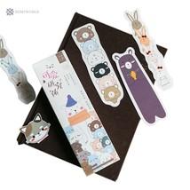 30Pcs/box Cute Funny Cartoon Animals Bookmark Paper Bookmark Promotional... - $5.30