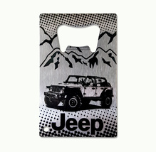 CH4X4 Jeepֲ® Laser Engraved Stainless Steel Credit Card Bottle Opener - $18.98