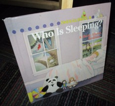 WHO IS SLEEPING? A HARDCOVER BOOK ABOUT BEDTIME, SNUGGLEBUG BOOKS, GREAT... - $3.99