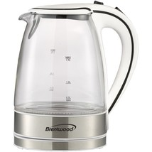 Brentwood Appliances KT-1900W 1.7-Liter Cordless Tempered-Glass Electric... - €40,82 EUR