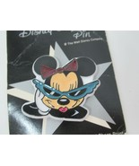 Disney trading pin Minnie Mouse glitter bow green glasses Gibson greetings  - $7.91