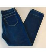 Banana Republic Denim Blue Jeans classic wide leg Size 14 100% Cotton - $19.79