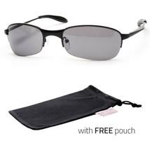 Xloop Sunglasses Metal Frame Mirrored Revo Lens Sports Shades Sunnies Blac Pouch - $9.99