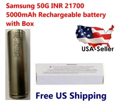 1 x Samsung 50G INR 21700 5000mAh Lithium Li-Ion rechargeable batteries ... - $8.90