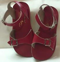 Hoy Shoe Co. Sun-San Surfer Split Leather Red Sandals Girl Toddler Sz 10... - $24.74