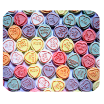 Mouse Pad Candy Love Abstract Design With Heart Affection For Game Animation - $9.00