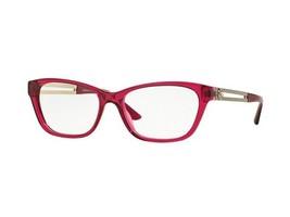 New Versace VE3220-5097 Rectangular Women Red Crystal Frame Genuine Eyeg... - $69.70