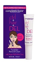 Completely Bare Ctrl + Hair + DEL Facial Hair Removal Cream - All Natural Ingred
