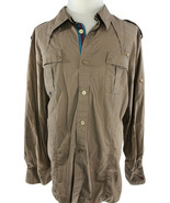 CAVI Military Style Uniform Shirt Beige Short Sleeve Men Size 5XL $55 - $28.02
