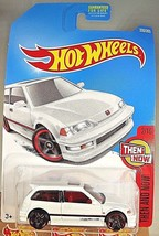 2017 Hot Wheels #330 Then and Now 2/10 '90 HONDA CIVIC EF White w/Black ... - $8.75
