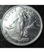1945 Philippines 50 Centavos Silver Coin Nice ! - $12.45