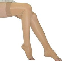 Jobst Ultrasheer 20-30 Thigh High Open Toe Compression Stockings w/ Dot Silicone - $93.12