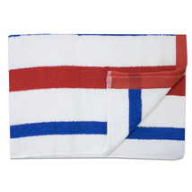 Jumbo Calypso Stripe Cabana Beach Pool Cotton Towel 30 x 60 Red/Royal 1 ... - $59.10