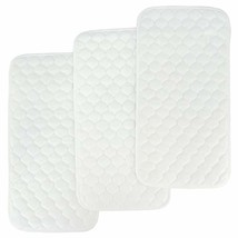 Bamboo Quilted Thicker Longer Waterproof Changing Pad Liners for Babies 3 Count