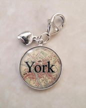Britain Cities England UK Choose Vintage Map .925 Sterling Silver Charm - $30.50+