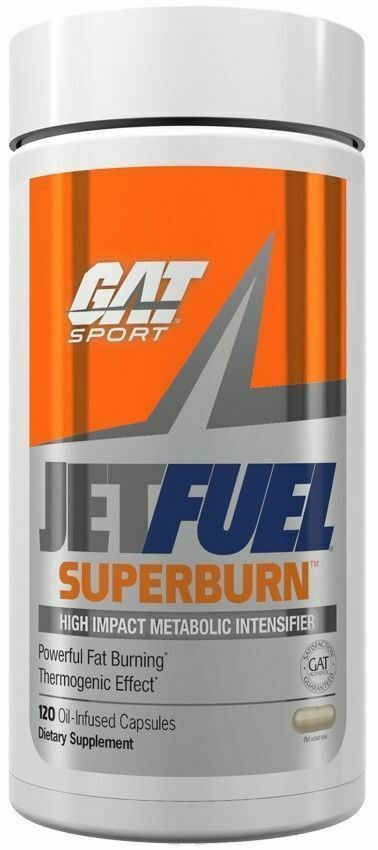 GAT Jetfuel Superburn Ultra Premium Fat Burner, 120 Oil-Infused Capsules