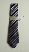 REACTION Kenneth Cole Men's Tony Stripe NeckTie Purple - $12.86