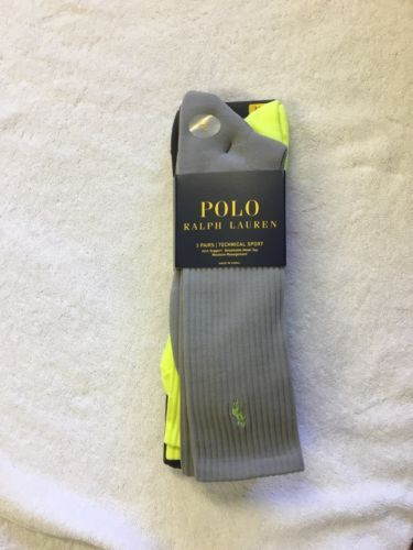 Primary image for POLO RALPH LAUREN  MEN'S 3 PAIRS TECHNICAL SPORT SOCKS XL(13-16)