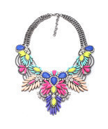 4 Colors Quality Style Fashion Vintage Unique Collar Pendant Chunky Neck... - $365,02 MXN