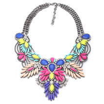 4 Colors Quality Style Fashion Vintage Unique Collar Pendant Chunky Neck... - $17.86