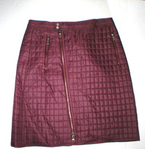 New NWT $378 Womens Dark Red Brick Quilted Skirt Worth NY 6 York Office ... - $170.10