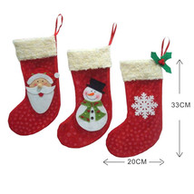 Year 3 Pieces/Set Mini Christmas Stockings ks Santa Claus Cy Gift Xmas T... - $13.99