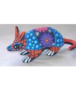 Ceramic Clay Armadillo Figurine Hand-painted Mexican Folk Art Neat Gift ... - $16.83
