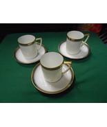 Vintage Set of 3 NIPPON Demitasse CUPS & SAUCERS - $15.65
