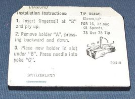 654-D7 653-D7 PHONOGRAPH RECORD NEEDLE for RCA 131780 RCA 138262 RCA 132069 image 4