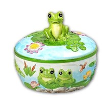 FROG 3D Ceramic Tortilla Holder Warmer NEW by KK - $43.64