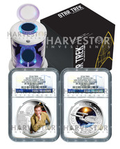 2015 CERTIFIED SILVER STAR TREK TWO COIN SET - NGC PF70 FIRST RELEASES -... - $699.99