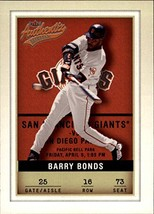 2002 Fleer Authentix #16 Barry Bonds - $2.95