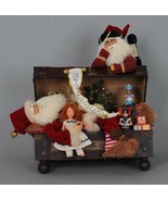 Karen Didion Santa Claus sleeping Santa in a toy trunk VC-09 - $399.99