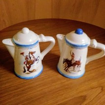 Paris & BeeBee Cow Girls Salt & Pepper Shakers   Made of Stoneware Set  image 5